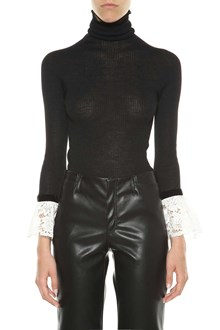 PHILOSOPHY di LORENZO SERAFINI Turtleneck sweater with lace cuffs
