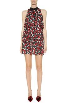 LIU JO Flouncy lipstick print dress