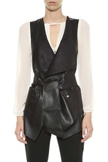 LIU JO Fake leather vest