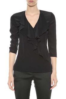 LIU JO Silk blouse with volants