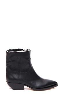 SAINT LAURENT Fringed edges ankle boots