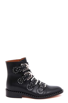 GIVENCHY Leather ankle booties with studs