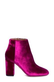 AQUAZZURA 'Brooklyn' velvet booties