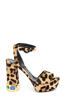 CASADEI Platform sandal Bisanzio heel