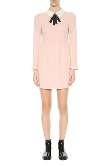 RED VALENTINO Cady dress with collar and bow