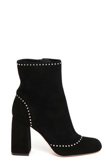 RED VALENTINO Suede booties with studs