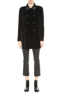 RED VALENTINO Velvet double-breasted coat