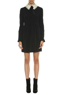 RED VALENTINO Short dress with white collar