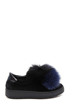 PHILIPPE MODEL 'Madeleine' sneaker with fox fur pom pom