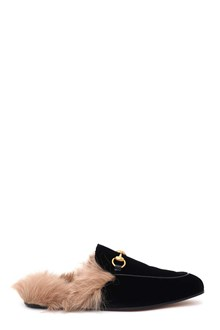 GUCCI Velvet Princetown slippers