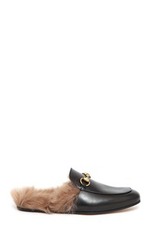 GUCCI Lleather Princetown slippers