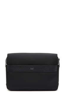 DOLCE E GABBANA Leather and nylon shoulder bag