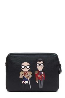 DOLCE E GABBANA Designers' patches pouch