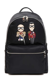 DOLCE E GABBANA Designers' patch backpack