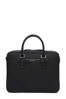 DOLCE E GABBANA Leather and nylon handbag
