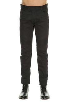 BALMAIN Black biker jeans