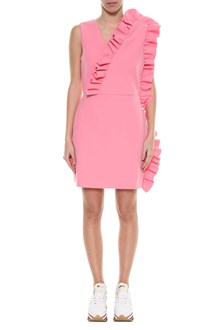 MSGM Short dress with V neck and frills