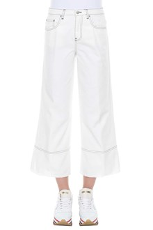 MSGM Cropped wide-leg jeans