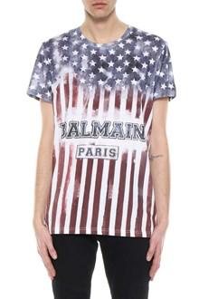 BALMAIN American flag t-shirt