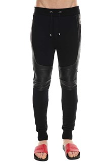 BALMAIN Trackpants with leather insert