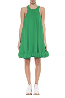 MSGM Wide short dress with frills