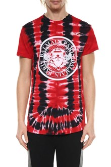 BALMAIN Tie-dye t-shirt with logo