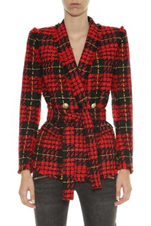 BALMAIN Tweed double-breasted blazer with golden buttons