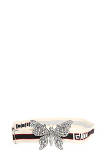 GUCCI Elastic belt with butterfly