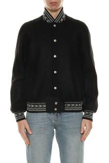 SAINT LAURENT Wool bomber jacket