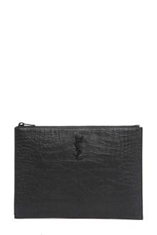 SAINT LAURENT Monogramme croco pouch