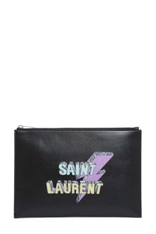 SAINT LAURENT Pouch with logo print