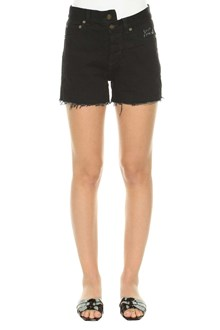 SAINT LAURENT Shorts in denim con ricamo