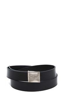 SAINT LAURENT Belt with squared buckle