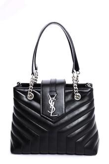 SAINT LAURENT small Loulou shopping bag 27 x 20 x 10.5 monogramme matelassè
