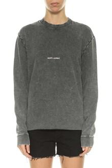 SAINT LAURENT Logo printed sweatshirt