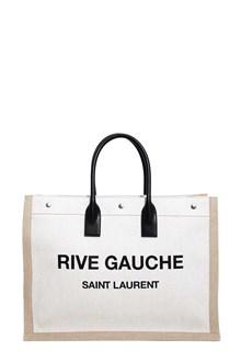 SAINT LAURENT Noe large tote 48 x 36 x 16 'Rive Gauche' canvas