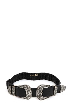 ARGENTO ANTICO Leather elastic belt