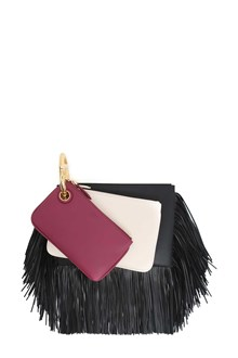 FENDI 'Triplette' clutch with fringes