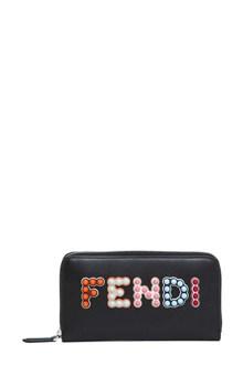 FENDI Studded logo wallet
