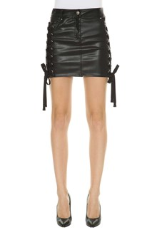 VERSUS VERSACE Fake leather mini skirt