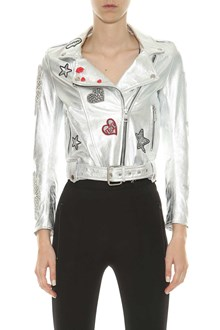 OSHUN Leather biker with patches