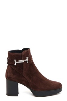 TOD'S Suede ankle booties