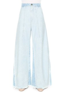 CHLOÉ Wide-leg fringed jeans