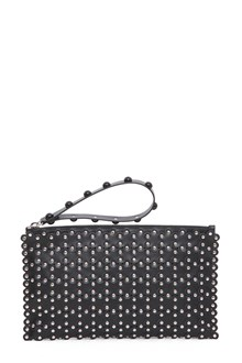 RED VALENTINO Leather pouch wih studs