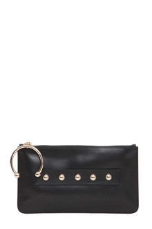 RED VALENTINO Leather pouch with piercing
