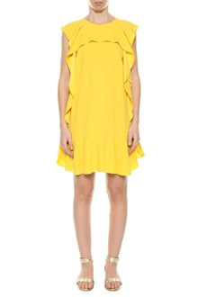 RED VALENTINO Short dress with frills