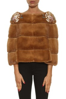 MAVINA Mink fur short cape