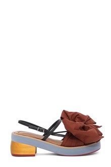 MARNI Platform sandals with bow