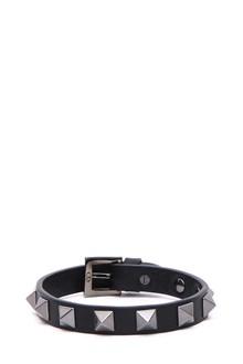 VALENTINO GARAVANI leather studded bracelet