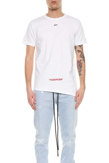 OFF-WHITE t-shirt youth spliced tee